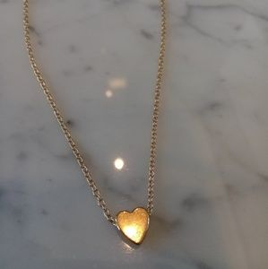 Gold Heart Necklace $40